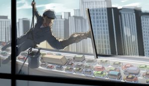 Dave OConnell, Storyboard, car, traffic, window washer