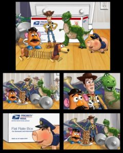 Dave OConnell, Toy Story, Us Postal, Storyboard, Animatic, Cartoon