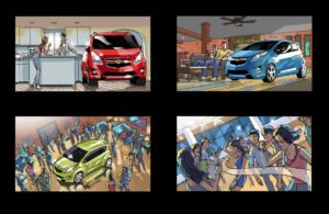 Dave OConnell, Chevrolet, Storyboard, people, party