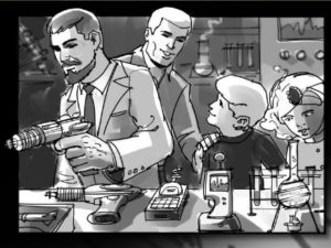 Dave OConnell, Johnny Quest, Storyboard