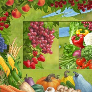 Dave OConnell, Food, Vegetables,Fruit, Illustration, Mural