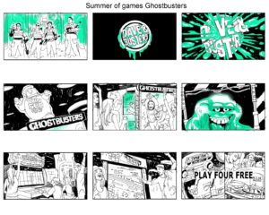 Dave OConnell, Ghostbusters, Dave & Busters, Storyboard