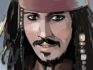 Dave OConnell, Johnny Depp, pirates Caribbean, Dave & Busters, Storyboard