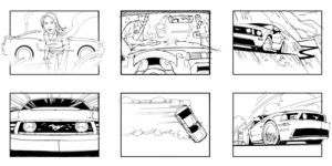 Dave OConnell, Ford, Mustang, BXW storyboard