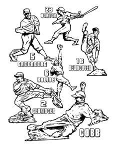 Dave OConnell, Tiger baseball Statues, Line art