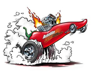 Dave OConnell, Autolite, Hot Rod, Illustration