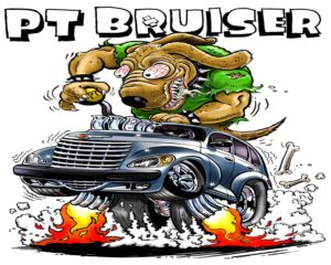 Dave OConnell, PT Bruiser, Illustration, Hot rod art