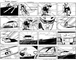 Dave OConnell, Lincoln, Loose black & white storyboard
