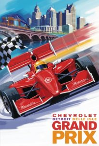 Poster, Grand Prix, Chevrolet, Detroit Belle Isle